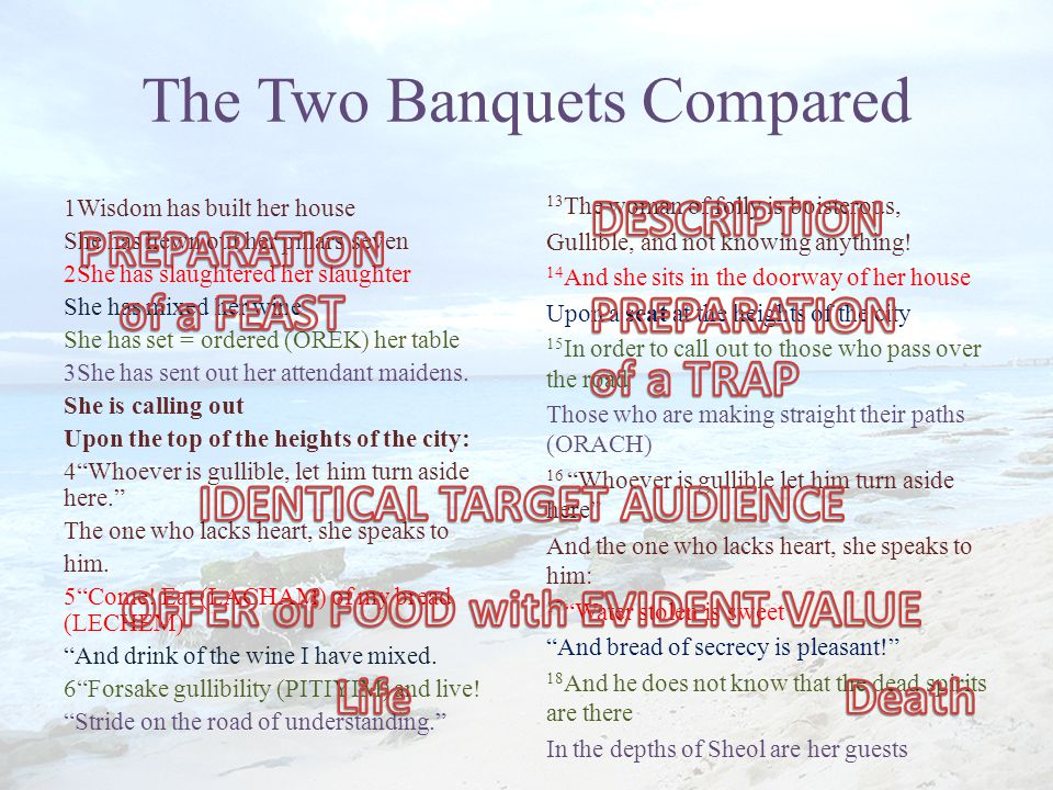 The Two Banquets Compared