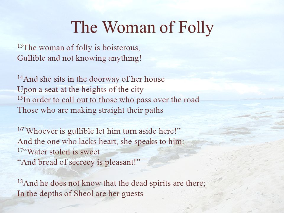 The Woman of Folly