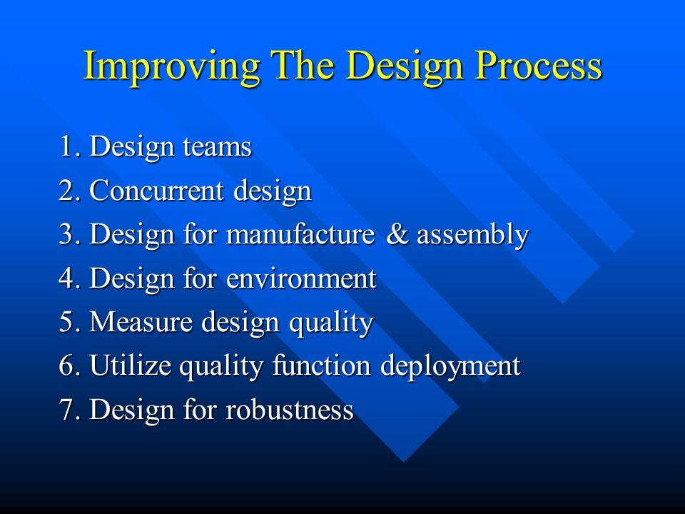 Improving The Design Process