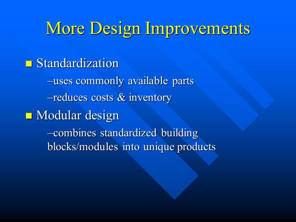 More Design Improvements