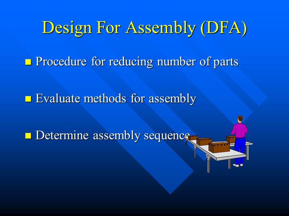 Design For Assembly (DFA)
