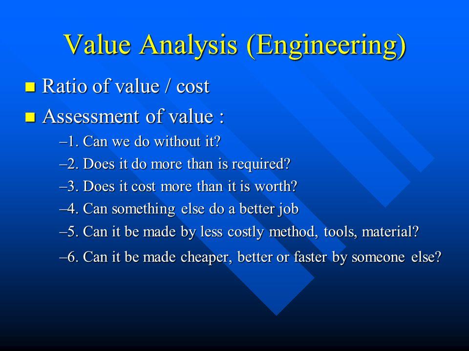 Value Analysis (Engineering)
