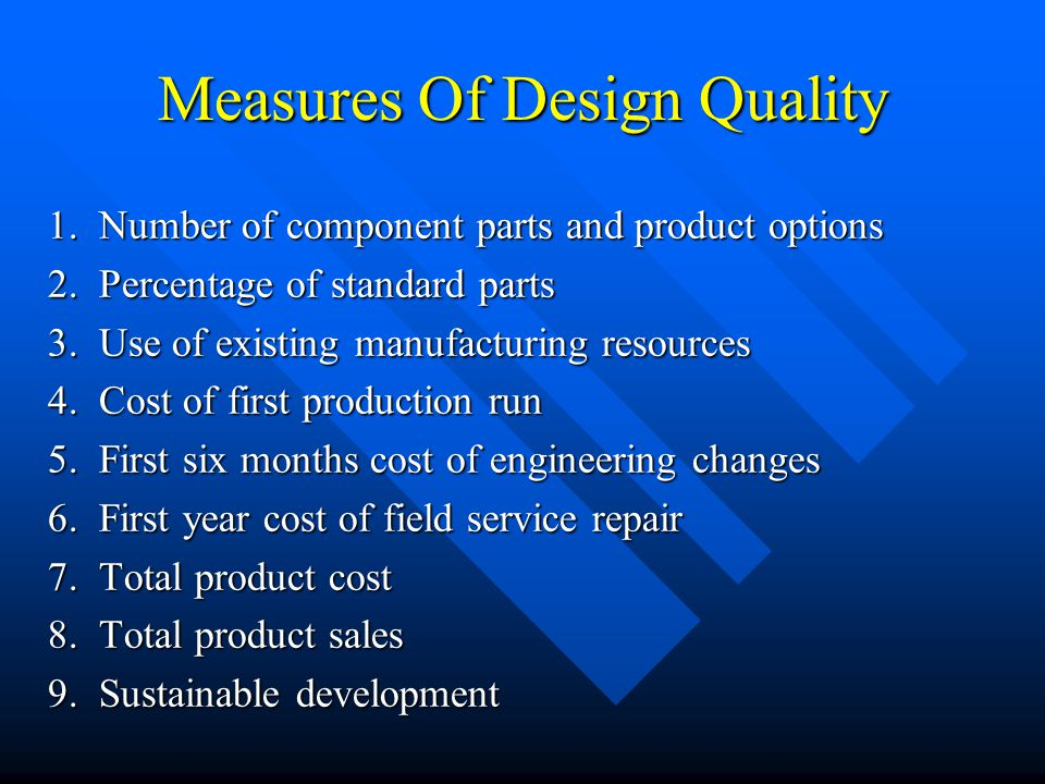 Measures Of Design Quality