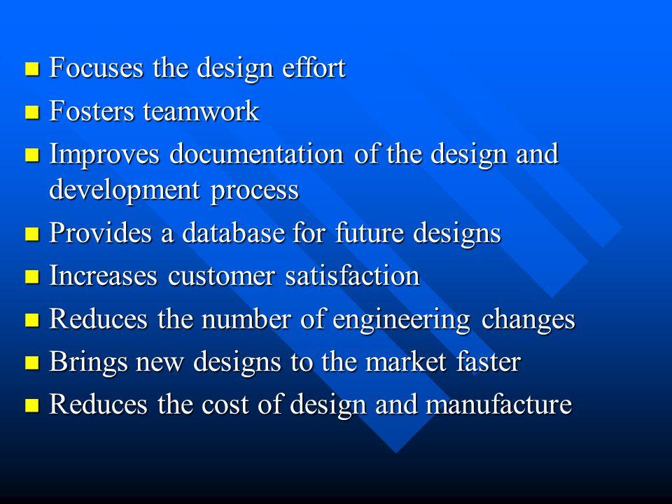 Focuses the design effort