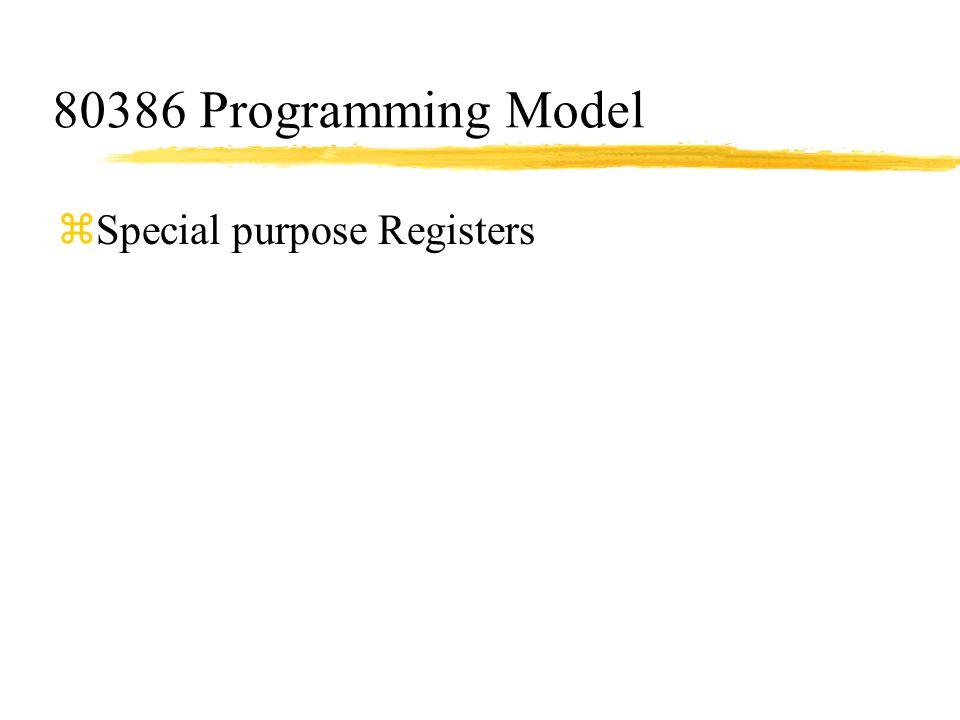 80386 Programming Model Special purpose Registers