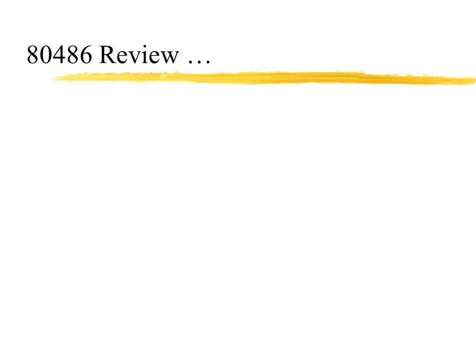 80486 Review …