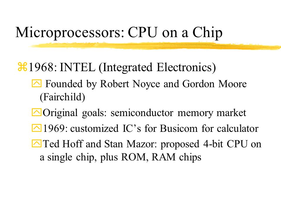 Microprocessors: CPU on a Chip