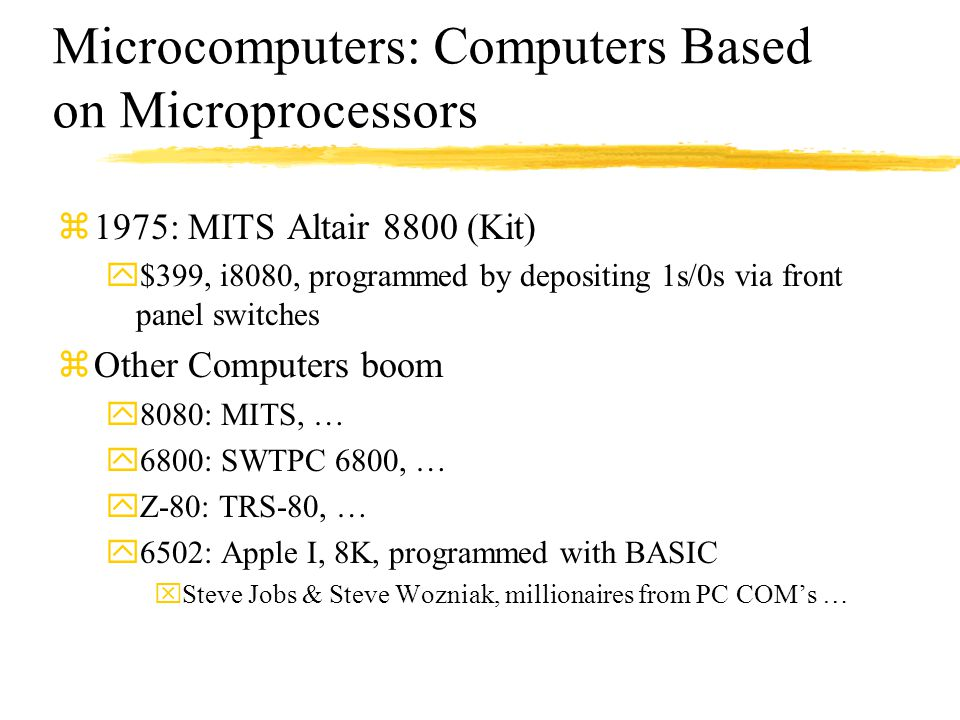Microcomputers: Computers Based on Microprocessors