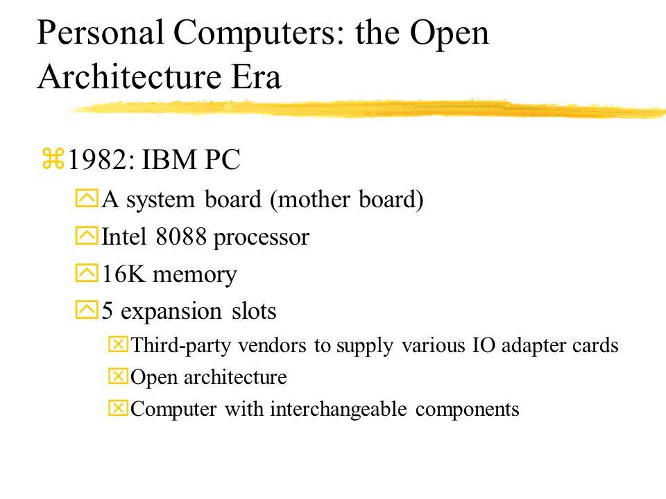 Personal Computers: the Open Architecture Era