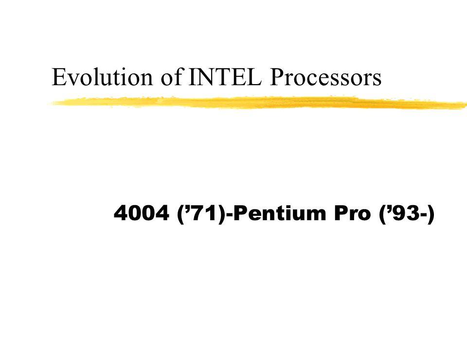 Evolution of INTEL Processors