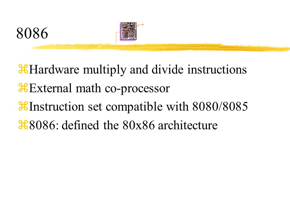8086 Hardware multiply and divide instructions