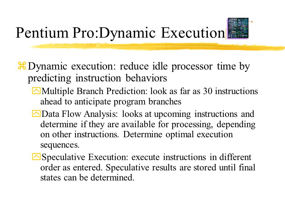 Pentium Pro:Dynamic Execution