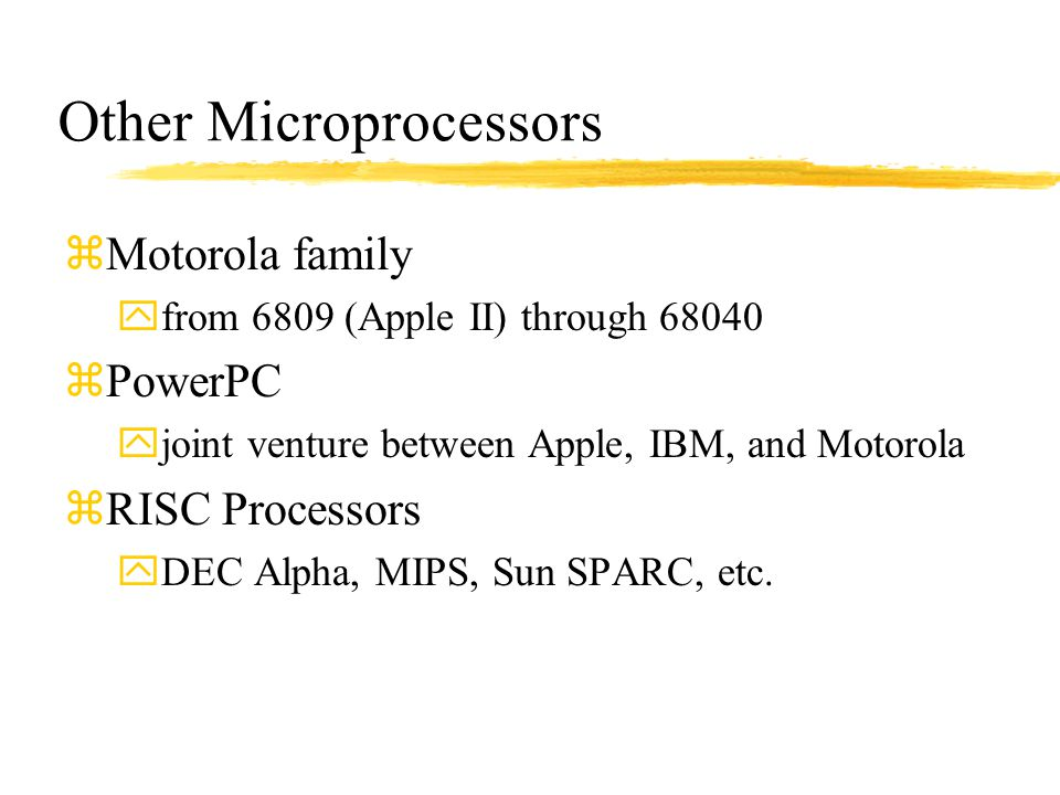 Other Microprocessors