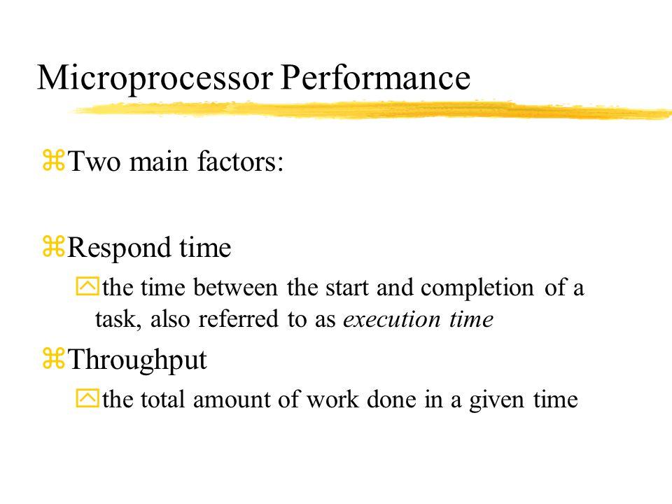 Microprocessor Performance
