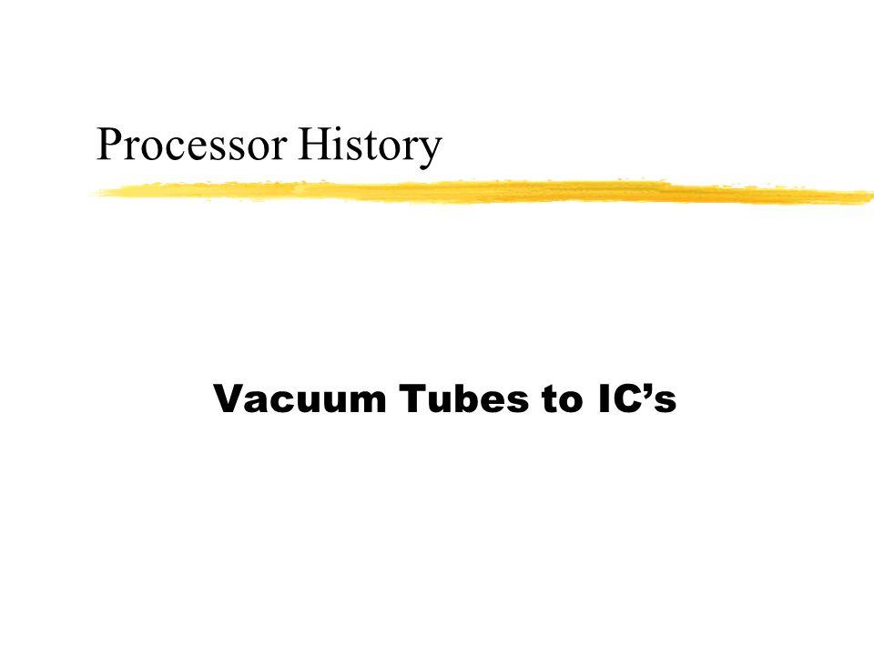 Processor History Vacuum Tubes to IC's