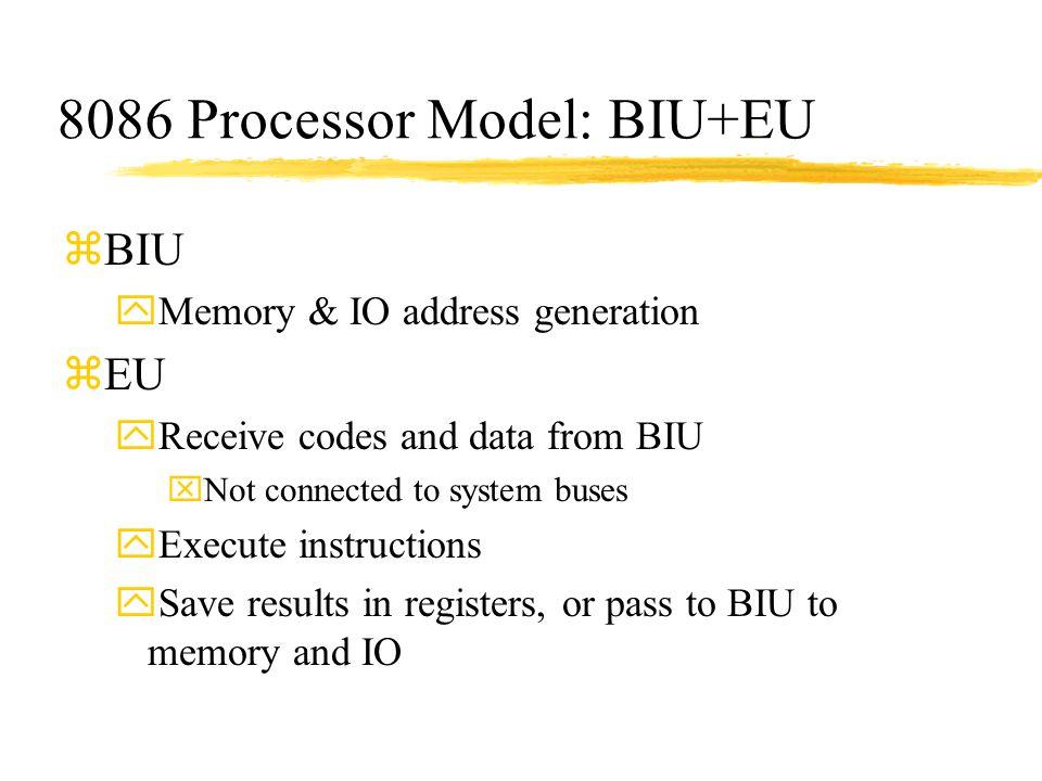 8086 Processor Model: BIU+EU