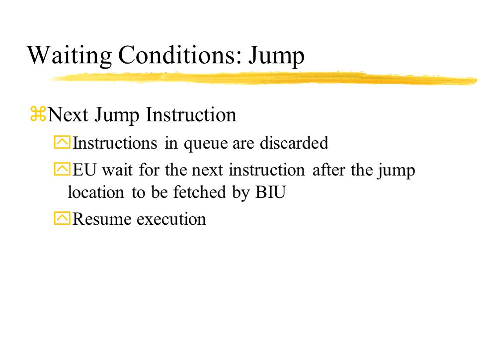 Waiting Conditions: Jump