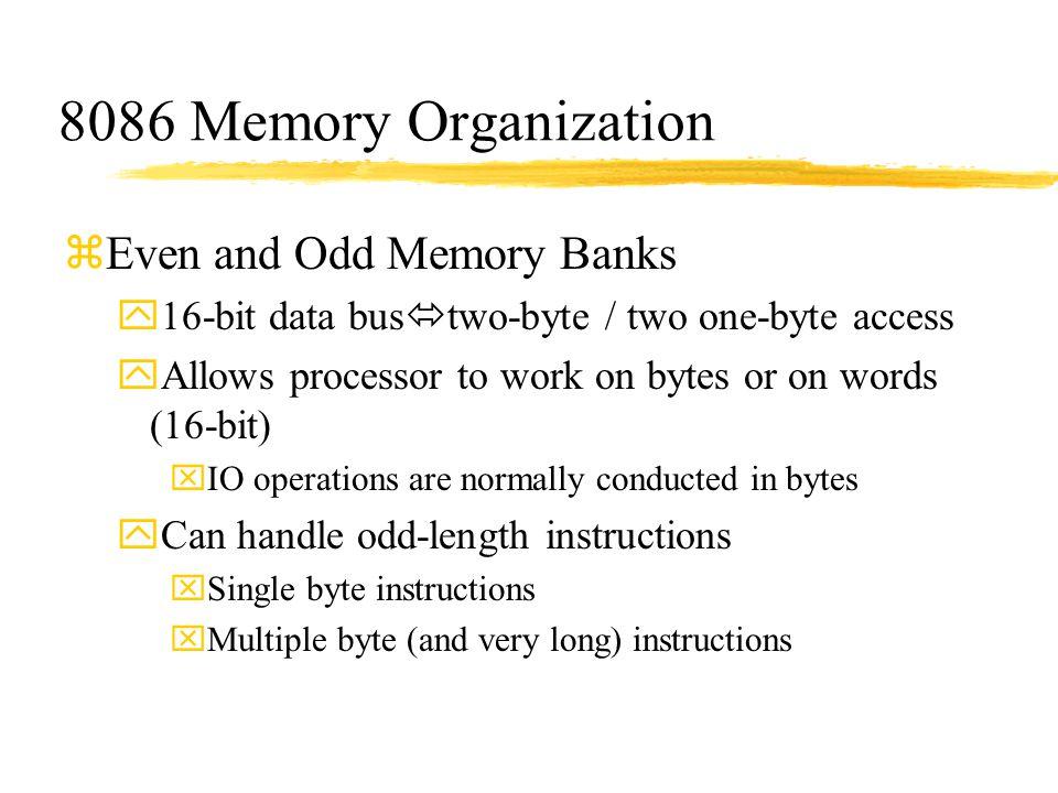 8086 Memory Organization Even and Odd Memory Banks