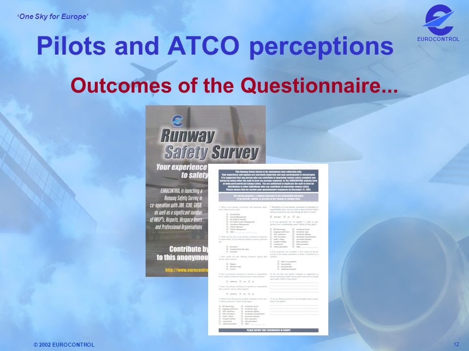 Pilots and ATCO perceptions