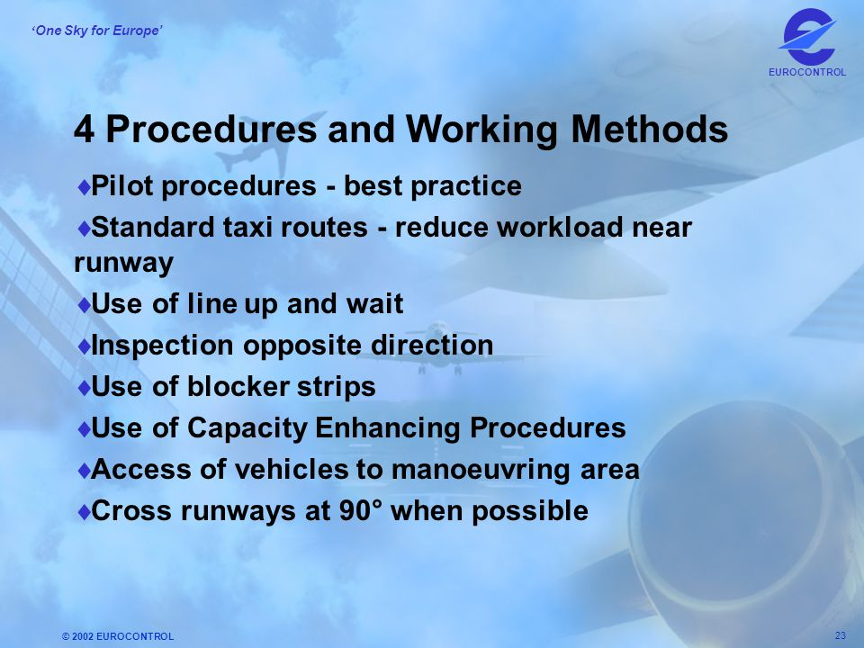 4 Procedures and Working Methods