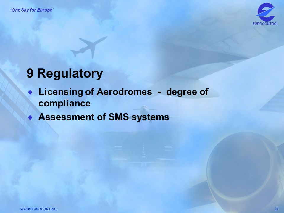9 Regulatory Licensing of Aerodromes - degree of compliance