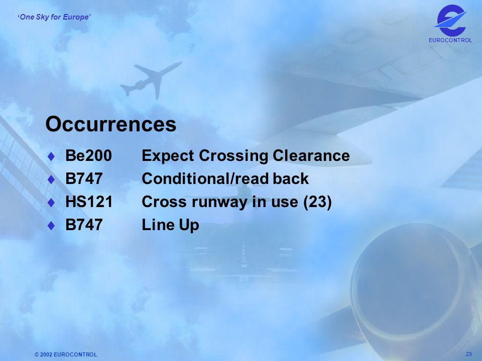 Occurrences Be200 Expect Crossing Clearance B747 Conditional/read back