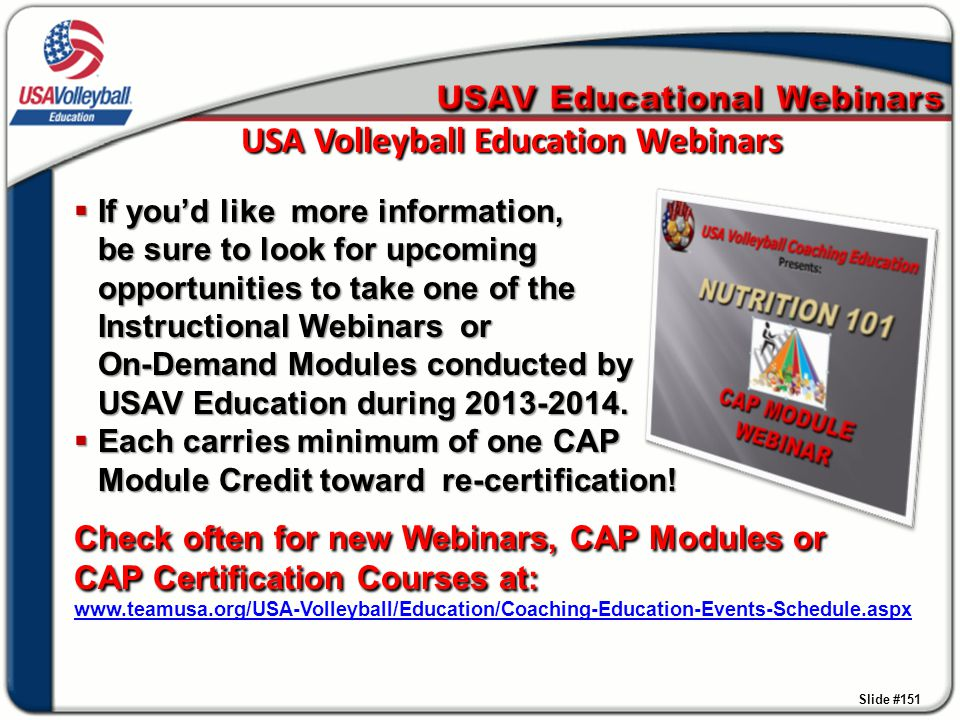 USA Volleyball Education Webinars
