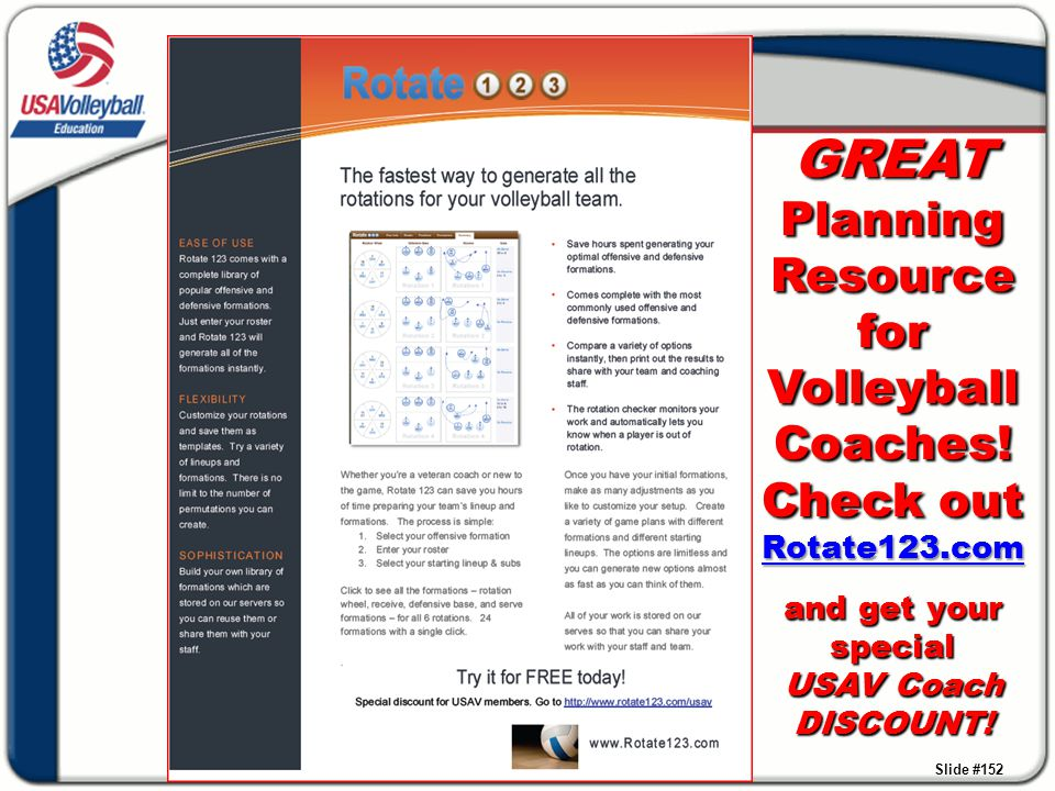 GREAT Planning Resource for Volleyball Coaches. Check out Rotate123