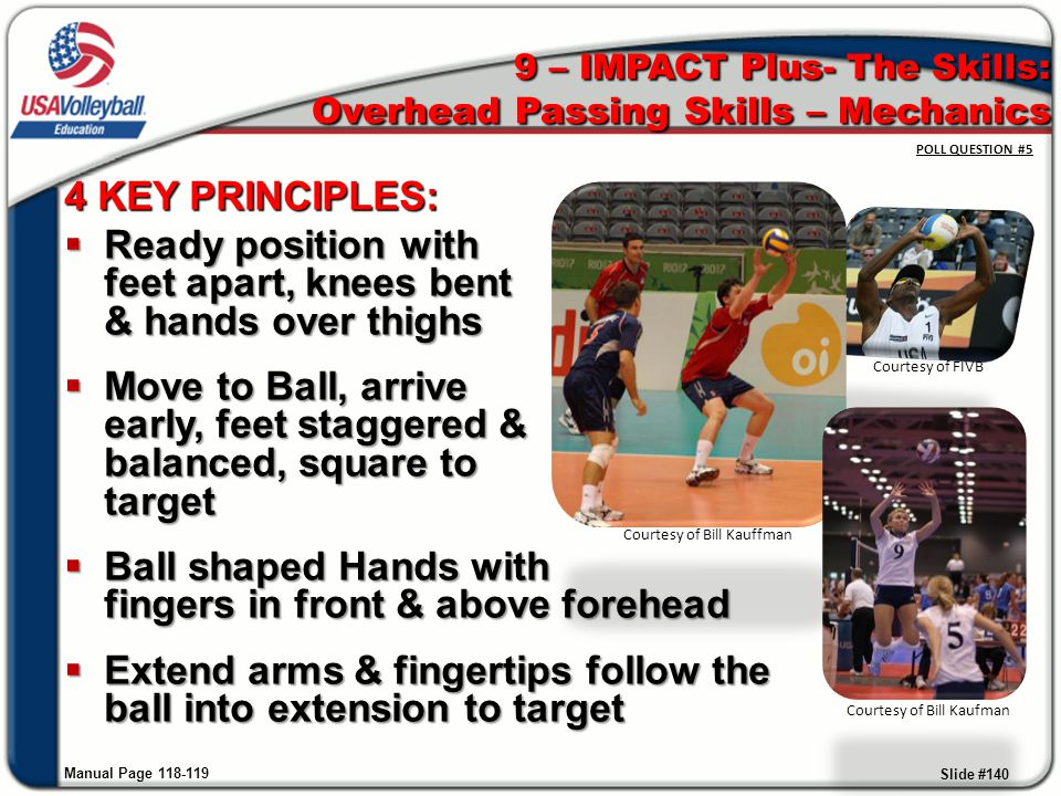 9 – IMPACT Plus- The Skills: Overhead Passing Skills – Mechanics