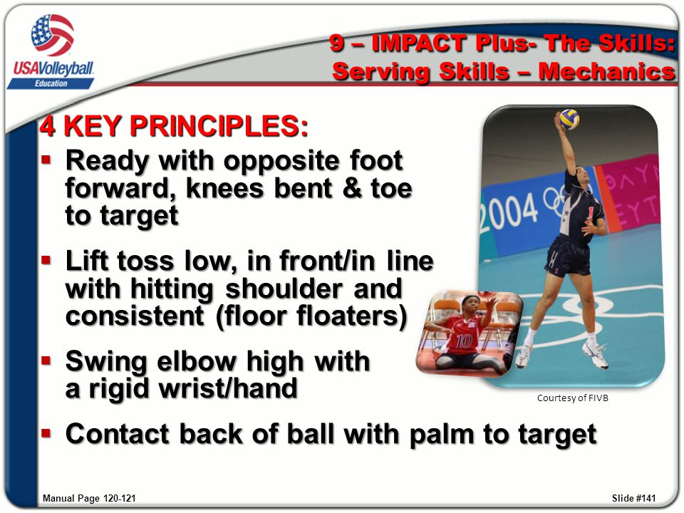 9 – IMPACT Plus- The Skills: Serving Skills – Mechanics