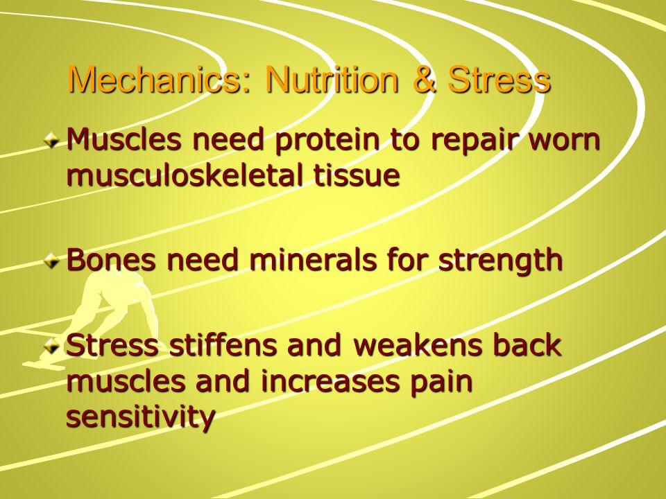 Mechanics: Nutrition & Stress