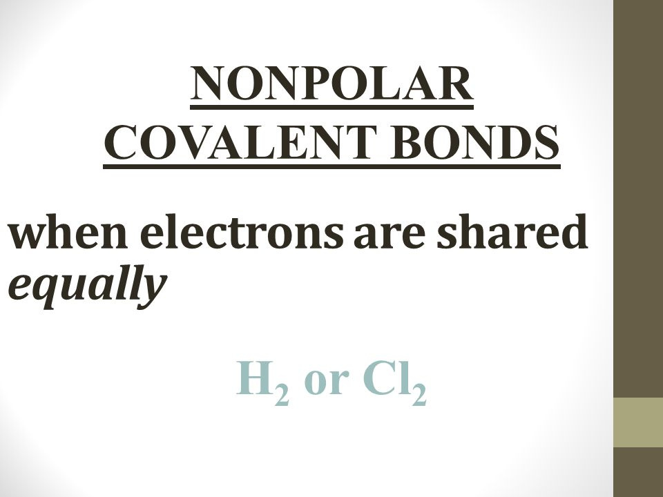 when electrons are shared equally