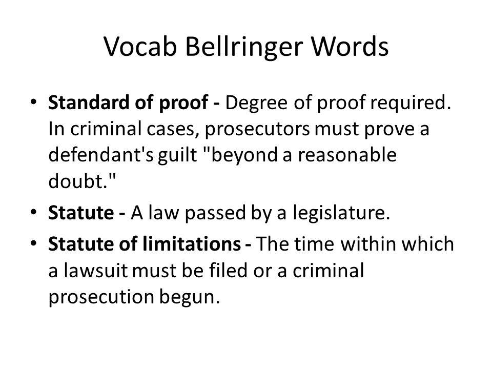 Vocab Bellringer Words