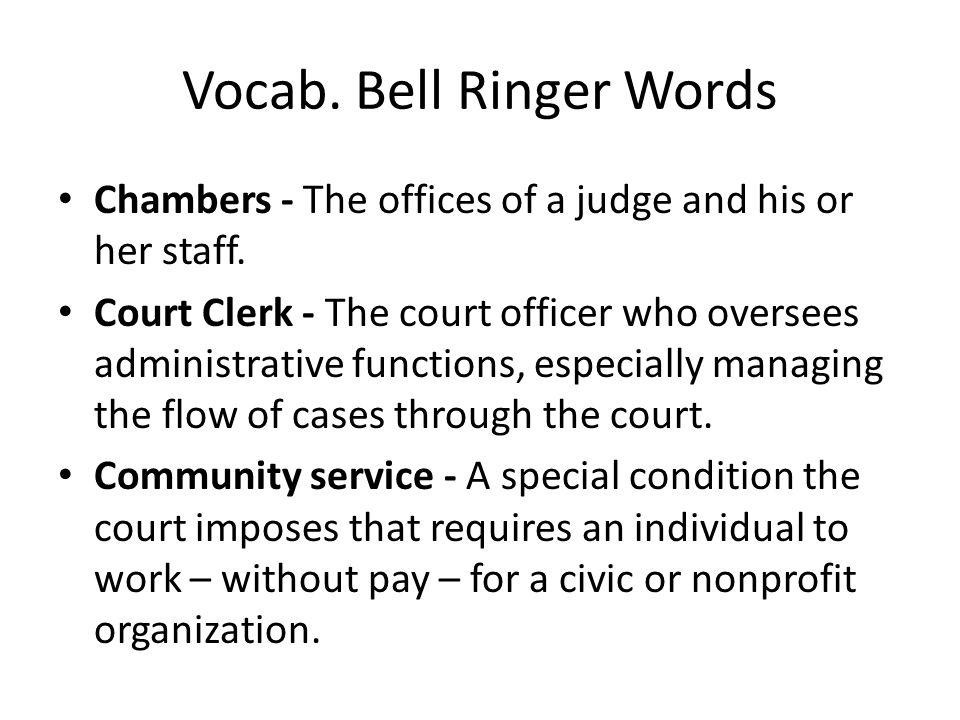 Vocab. Bell Ringer Words
