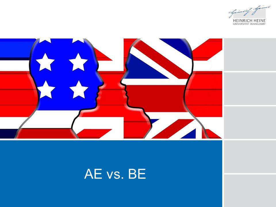 AE vs. BE