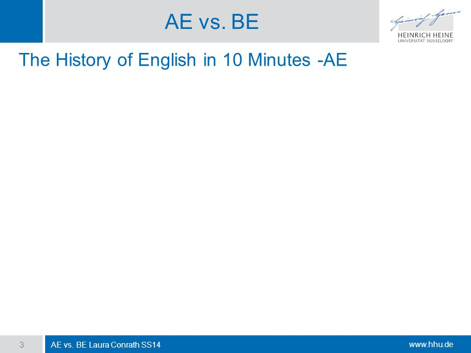AE vs. BE The History of English in 10 Minutes -AE