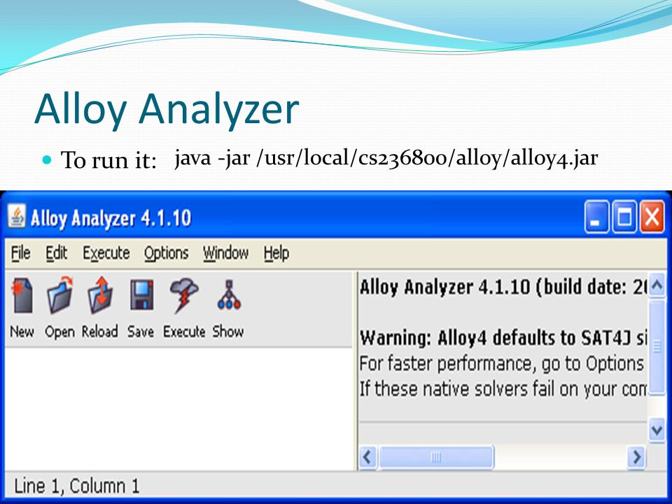 Alloy Analyzer To run it: