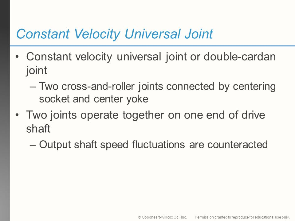 Constant Velocity Universal Joint