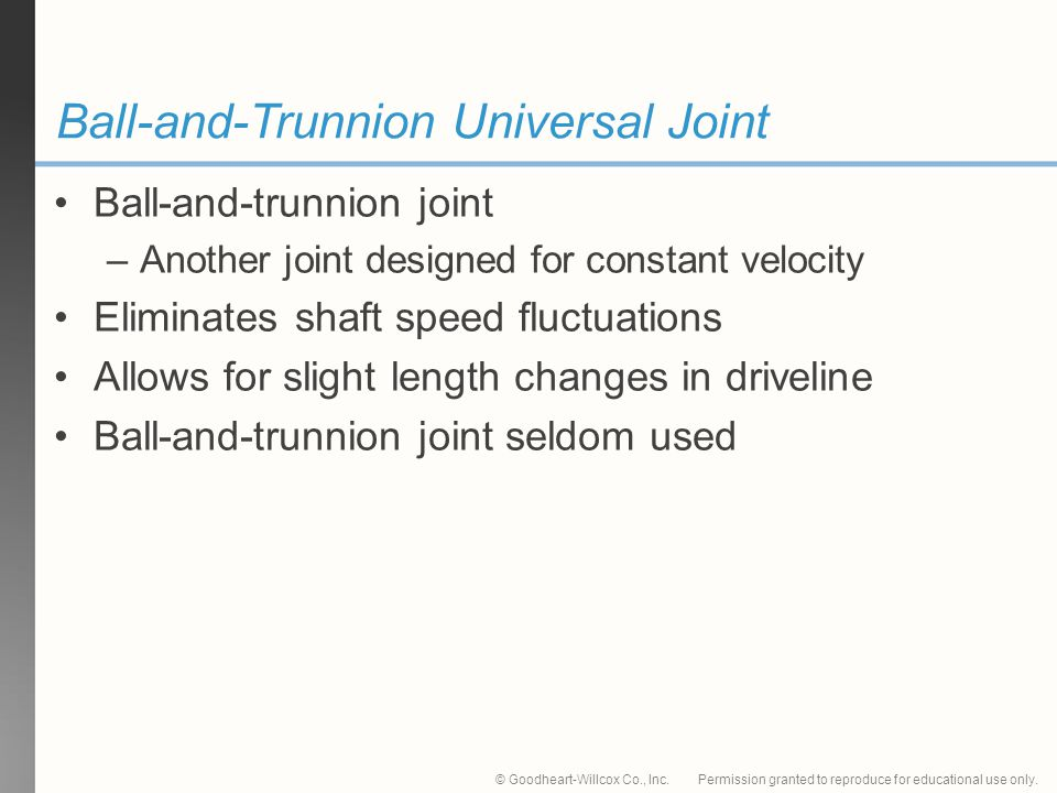 Ball-and-Trunnion Universal Joint