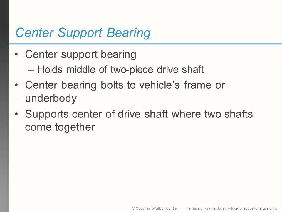 Center Support Bearing