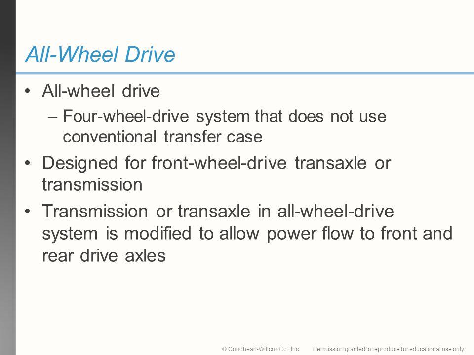 All-Wheel Drive All-wheel drive