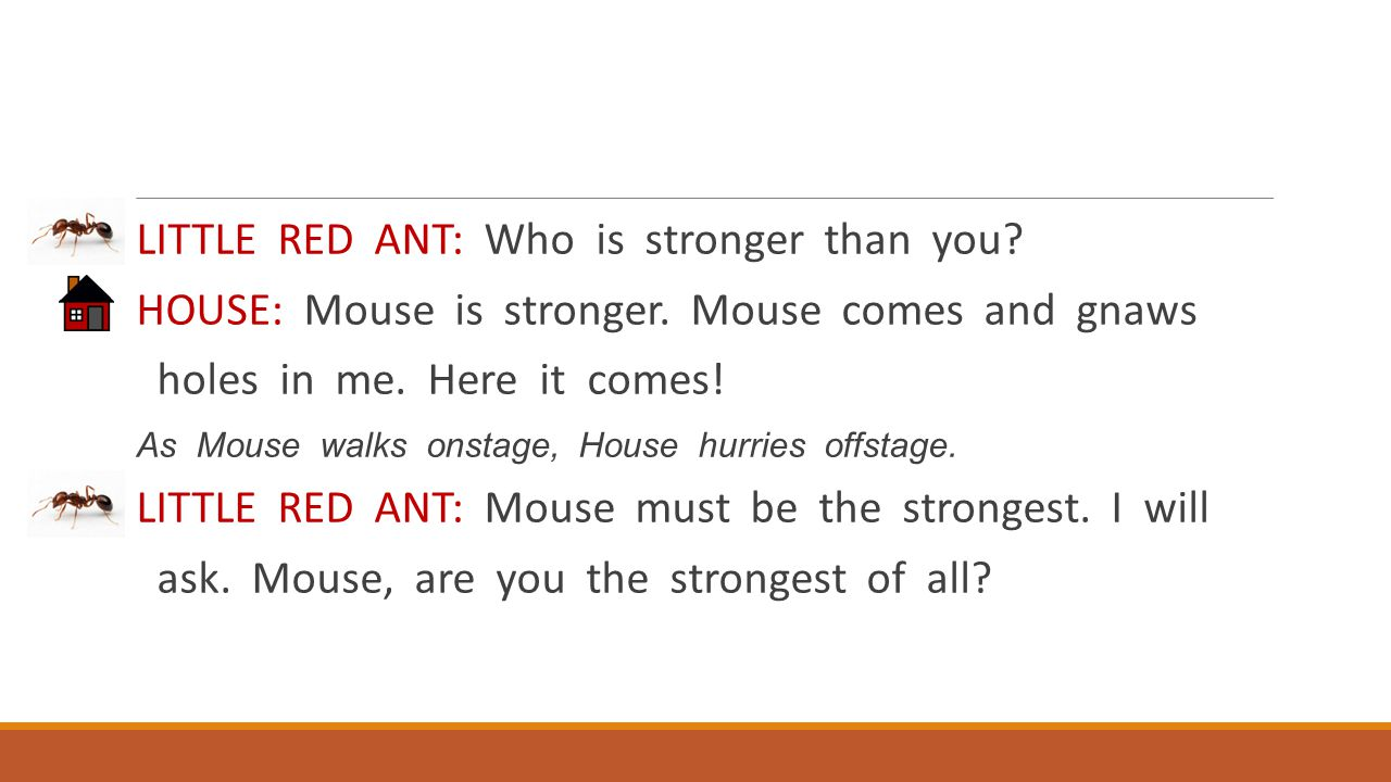 LITTLE RED ANT: Who is stronger than you