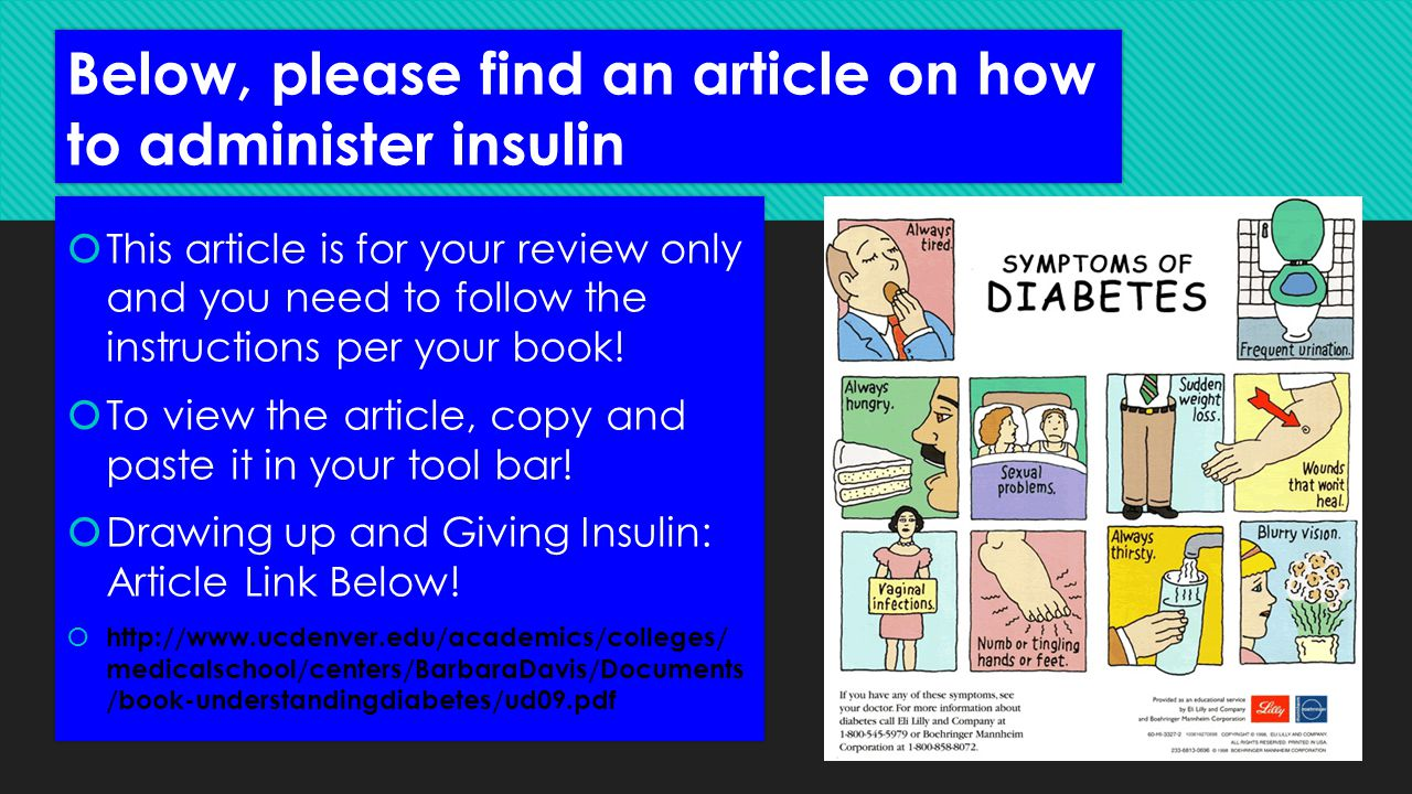 Below, please find an article on how to administer insulin
