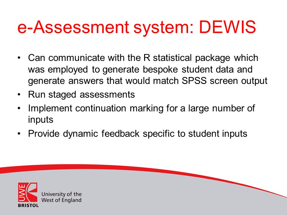 e-Assessment system: DEWIS