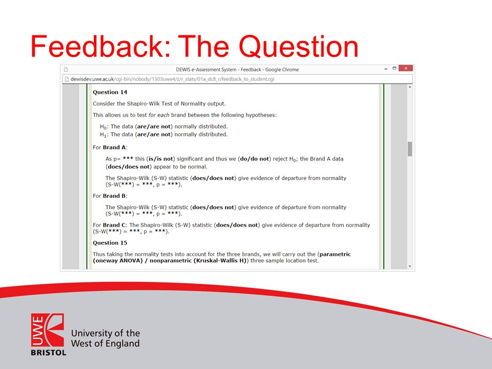 Feedback: The Question