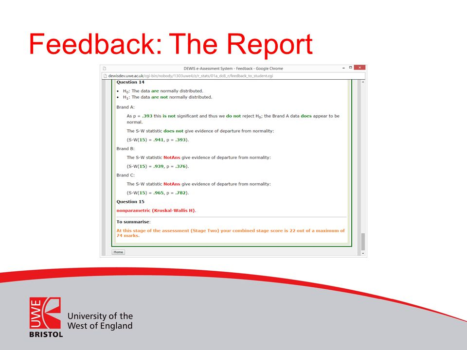 Feedback: The Report