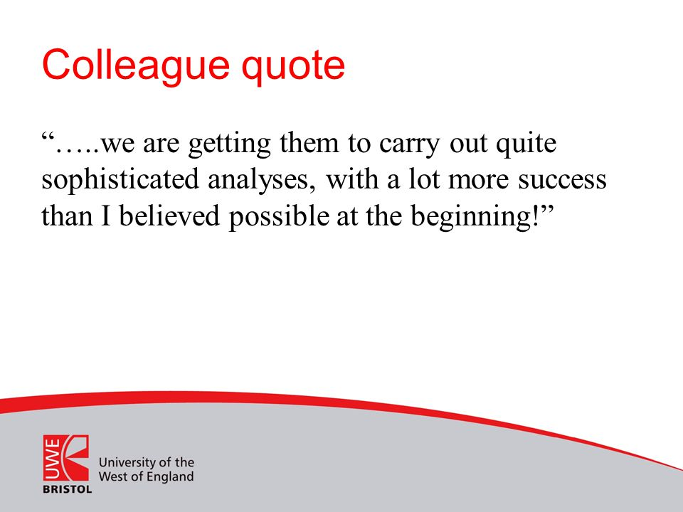Colleague quote