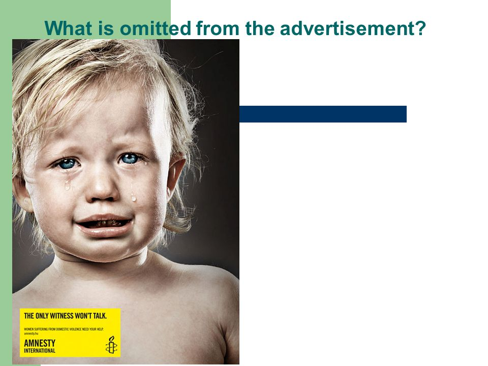 What is omitted from the advertisement