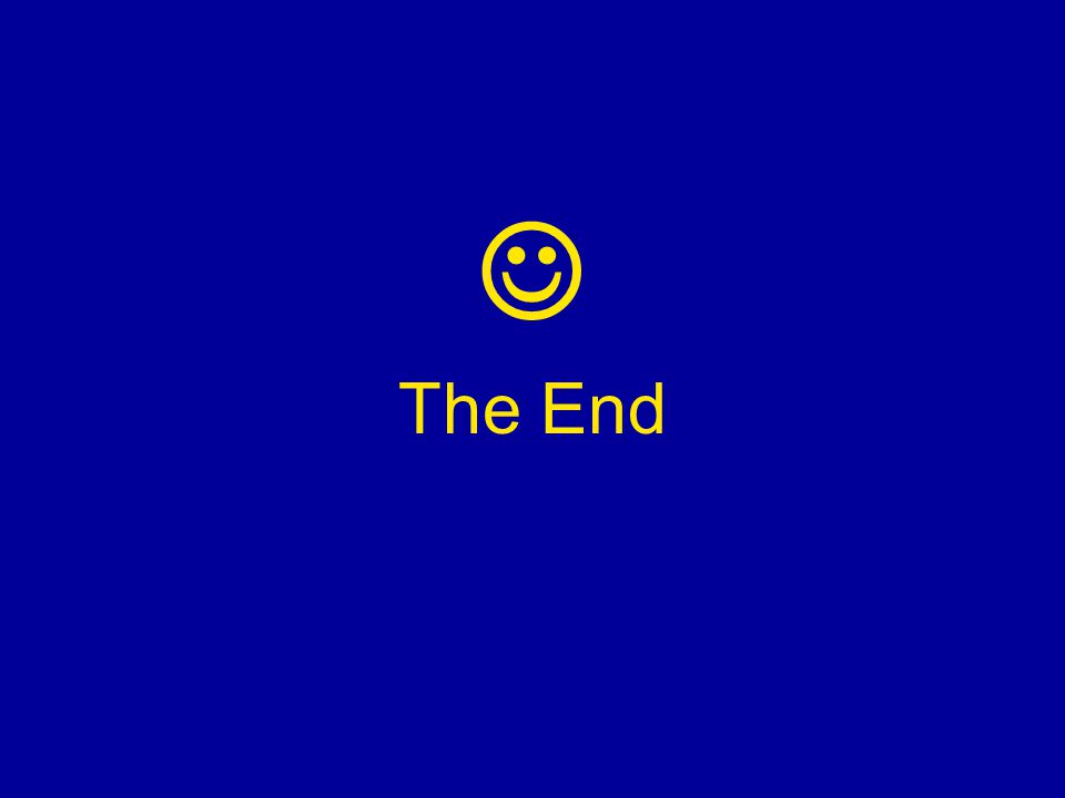  The End