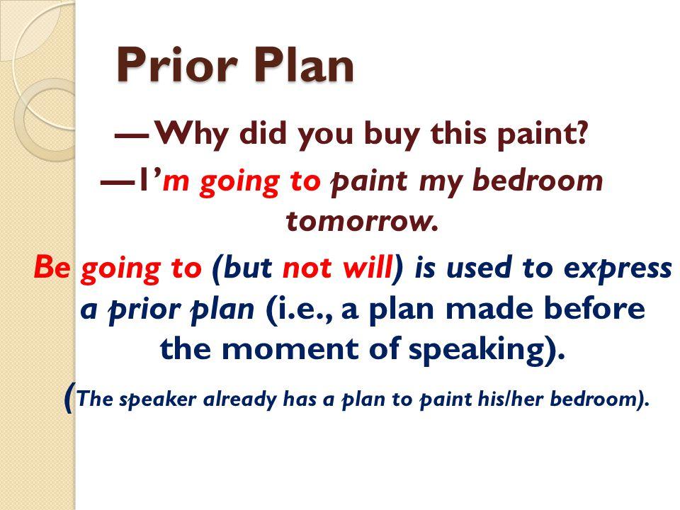 Prior Plan